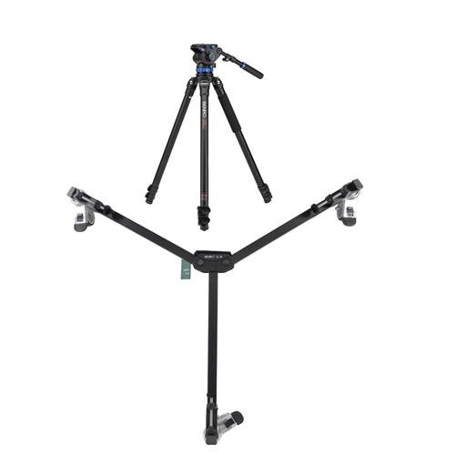 Benro A373F 3-Section Aluminum Video Tripod with S7 Head, 15