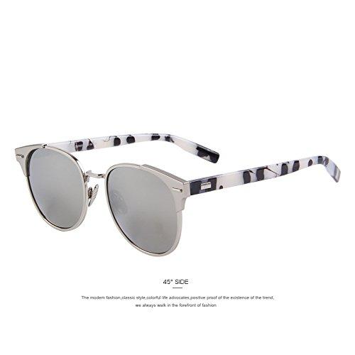sol de sol de Unisex gafas gafas Silver C05 mujer de hombres Remache polarizadas de Azul C03 la Classic TIANLIANG04 XOY1wpxn
