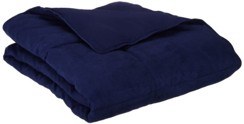 Aeolus Down Navy Microsuede Down Alternative Throw (Down Alternative Throw)