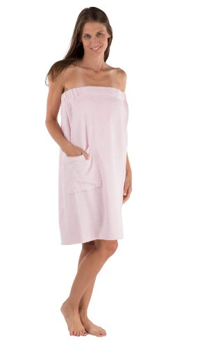 Getaway Gift (Women's Towel Wrap - Bamboo Viscose Spa Wrap Set by Texere (The Waterfall, Barely Pink, 2X/3X) Special Getaway Gift For Mom Wife Daughter WB0103-BPN-2X3X)