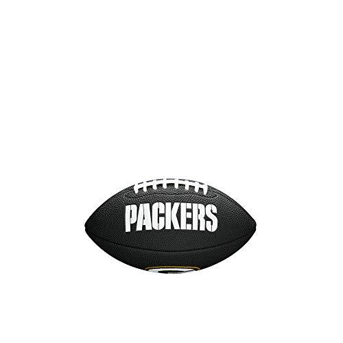 NFL Team Logo Mini Football, Black - Green Bay Packers