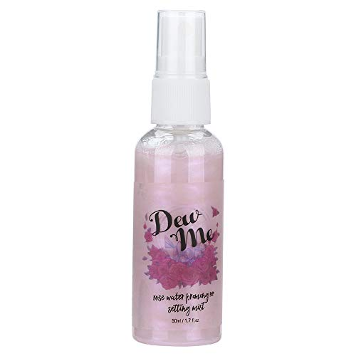 PHOERA Dew Me Rose Water Face Toner-Vovomay Rose Moisturizing Pearlescent Spray 1 Bottle Rose Water, Priming And Setting Mist (e)