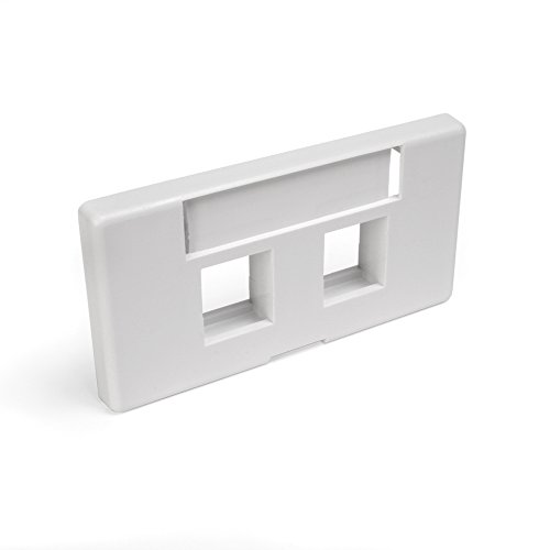Modular Furniture Faceplate - Leviton 49910-SW2 2-Port QuickPort Modular Furniture Faceplate, White