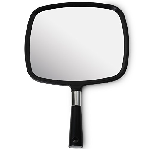Mirrorvana Large & Comfy Hand Held Mirror (2017 Model)