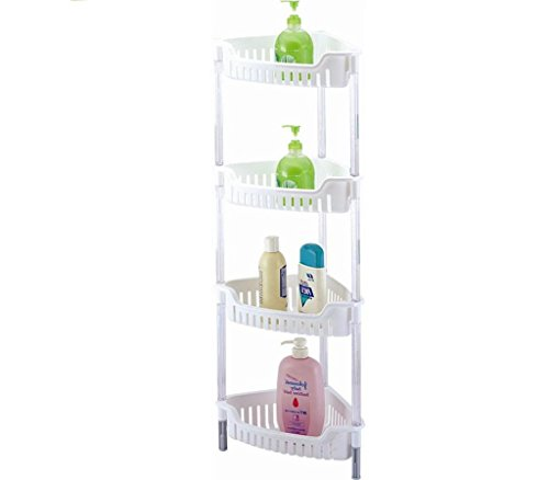 Above Edge AE3741 4 Tier Corner Storage Basket, White