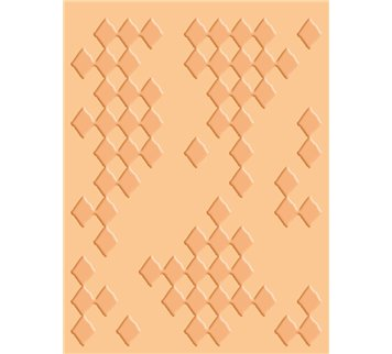Provo Craft Cuttlebug A2 Embossing Folder-Diamonds in The Rough