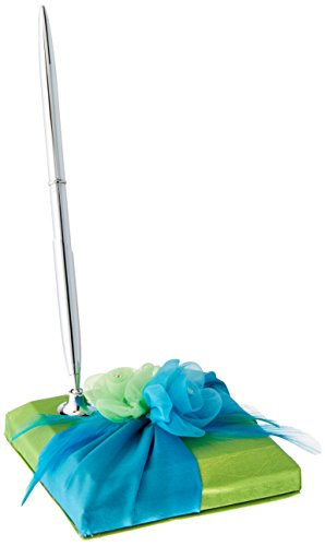 Lillian Rose Aqua Blue Green Fancy Wedding Guest Book Pen