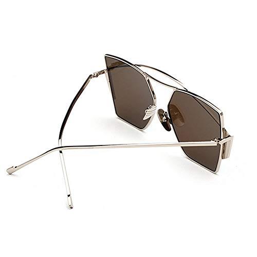 Gu Peggy Hommes Metal C4 Full Rimmed Vacances Protection Conduite Les de d'été Couleur Lunettes UV400 Couleur C1 Irrégulière Plage Femmes lentille Soleil pour dPCwxC