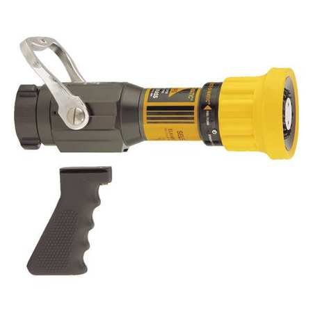 Fire Hose Nozzle, 1-1/2 In., Yellow