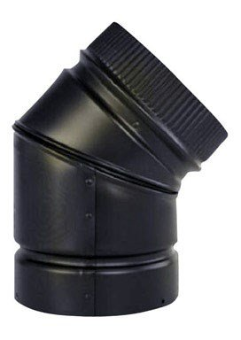 SELKIRK CORP DSP6E4-1 Smoke Pipe/45DEG Elbow, 6-Inch (Stove Pipe Through Wall)