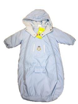 Dimo-Tex - Fußsack, Overall mit Kapuze für Babyschale, Autositz, Gr. 62 / 68