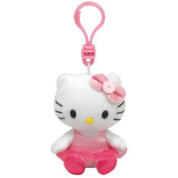 Ty Beanie Babies Hello Kitty Ballerina - Clip On -