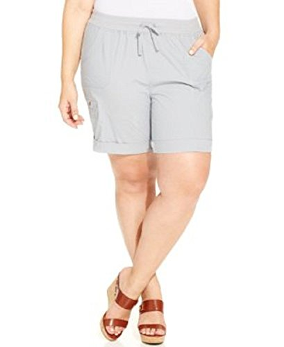 Style & Co. Plus Size Drawstring Waist Cargo Shorts 22w Grey
