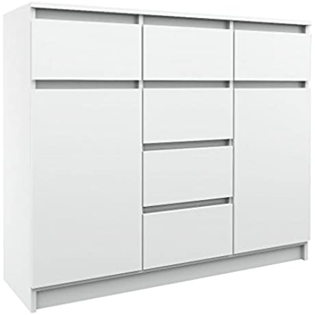 2 Door Sideboard With 6 Drawers In Different Color Combinations Modern Design Dresser White