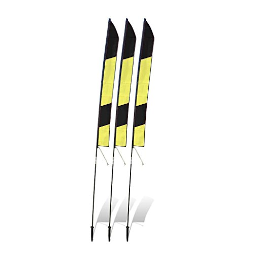 (Premier RC 6 ft. Slalom FPV Racing Air Gates with 10 ft. Poles (Set of 3) - Yellow/Black)