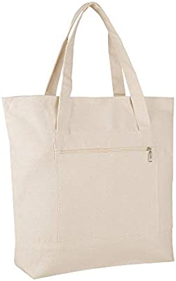 53ec3364a Pack of 12 - Heavy Duty Canvas Tote Bags BULK Bags Reusable Grocery  Shopping Logo Blank