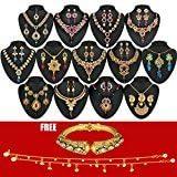 Chitralekha Traditonal Designer Gold Plated Utsav 13 Jewellery Set Combo For Women