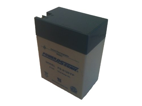 Powersonic PS-6120 - 6 Volt/12 Amp Hour Sealed Lead Acid Battery with 0.250/0.187 Fast-on Connector