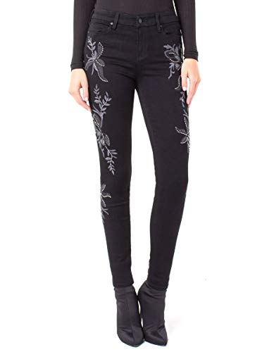 Women Floral Embroidery Jeans thumb pic