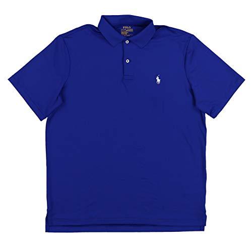 (Polo Ralph Lauren Mens Performance Interlock Polo Shirt (XXL, Deep Blue))