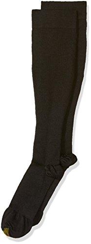 Gold Toe Men's Firm Compression OTC 1 Pack Sm, Black, Sock Size: 10-13/Shoe Size:9-11