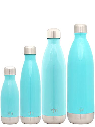 Simple Modern Stainless Steel Vacuum Insulated Double-Walled Wave Bottle, 9oz - Rock Candy Blue by Simple Modern