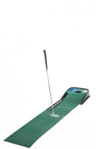 Golf & More, Puttingmatte mit Hindernissen mit Putter,Golfball und Schlüßelanhänger Golfball