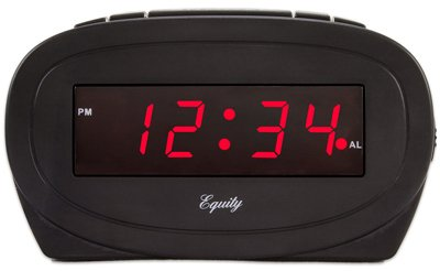 La Crosse Technology 30228 Alarm Clock, Black, 0.6-In. Red LED Display - Quantity 6