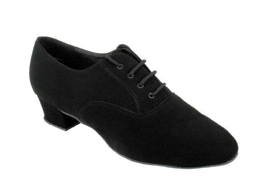 Mycket Fina Mens 915108w (ballroom Salsa Tango Latin) Dansskor Med 1,5 Klack (svart Läder, Svart Läder Och Nubuck, Svart Nubuck, Svart Perforerat Läder) (9,5, Svart Nubuck)