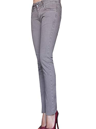 Trousers en it Vita 40 Aderente Cioccolata Pantaloni Inverno Bassa Femme Women's 26 26 Skinny Jeans Autunno Street Fustagno Pantalon Donna fr FxZqgdOd