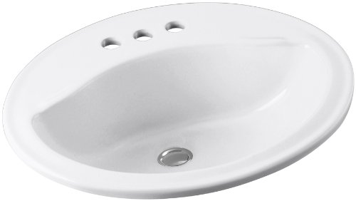 Sanibel Bath - STERLING 442004-0 Sanibel 20-Inch by 17-Inch by 8-Inch Oval Lavatory Sink, White