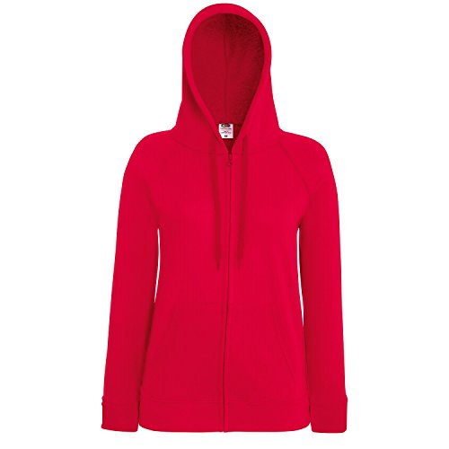 Fruit of the Loom - Sudadera con capucha - para mujer Rosso