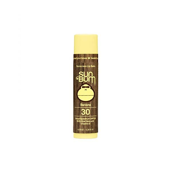 Sun Bum Lip Balm, SPF 30, 0.15 oz. Stick, 1 Count, Broad Spectrum UVA/UVB Protection, Hypoallergenic, Paraben Free…