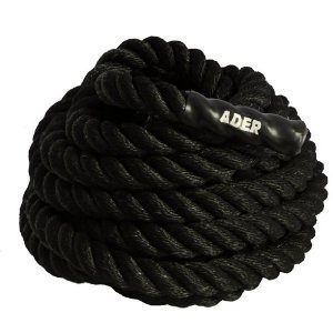 Ader Power Training Crossfit MMA Battle Rope- 1.5'' X 50' with Cable Jump Rope Set (1pc of Each) by Ader Sporting Goods