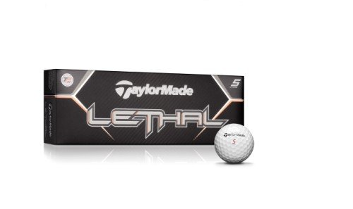 TaylorMade Lethal Golf Ball (Pack of 12), Outdoor Stuffs