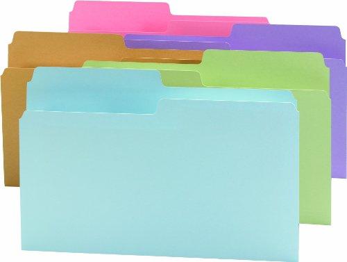 - Smead SuperTab File Folder, Oversized 1/2-Cut Tab, Legal Size, Assorted Colors, 100 per Box (15906)