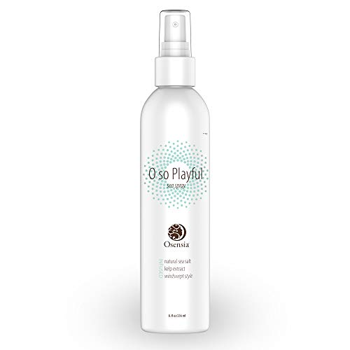Beachy Waves Sea Salt Spray for All Hair Types - Hair Texturizing Spray with Kelp Extract and Sea Salt - Paraben, Sulfate Free Beach Hair Texturizer and Surf Spray by Osensia, 8 Ounces (Man Tea Rock Hard Formula For Sale)