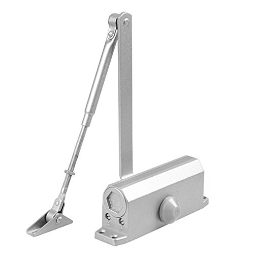 Ranbo Automatic Adjustable Door Closer with Hydraulic Hinge - Slowly Closes and Shuts Door - 90degree Positioning - Great Self Closing Door for Residential/Commercial Use … (33-110 LB)