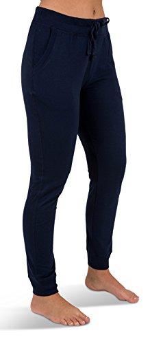 Sexy Basics Women's 2 Pack Yoga Activewear Jogger Capri Cropped Sweat Lounge Pants (2 Pack- Navy/Charcoal, Large) by Sexy Basics (Image #4)