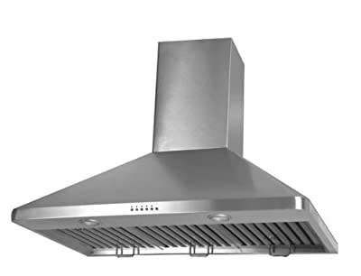 "36""x20 Pro Stainless Steel Baffle Filter Wall Mounted Range Hood Vent Hood"