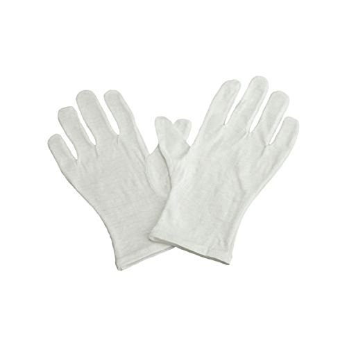(Soft White Cotton Gloves, Extra Small Size, Pack of 12 Pairs)