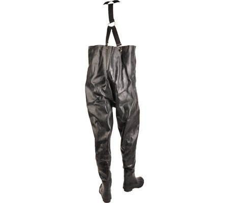 Herco Heavy Duty Rubber Chest Waders - Men's Size 15 (Black)