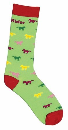 TuffRider Childs Neon Pony Socks Green