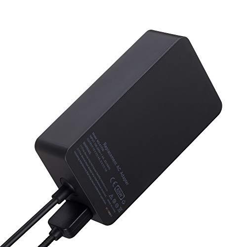 65W 15V 4A AC Power Adapter Charger for Microsoft Surface Book Surface Pro 3 Pro 4 Pro 5 Pro 6 Surface Go Surface Laptop 2 with USB Charging Port and 6ft Cord by E EGOWAY (Image #2)