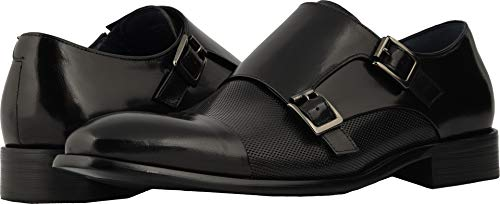 - STACY ADAMS Men's Jennings Cap Toe Double Monkstrap Black 11.5 D US