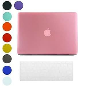 """HC- Superficie Helada diseño PC Hard Case cubierta con la piel del teclado para MacBook Air (colores surtidos) , Rosa , 13.3"""""""
