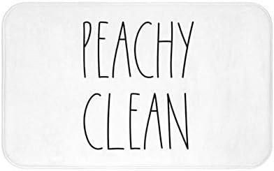 Zacathan432 Area Rug 16 x 24 Inch Door Mat, Inspired Peachy Clean Bath Mat for Your Farmhouse Bathroom Rug