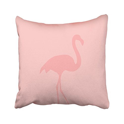 ONELZ Coral Pink Flamingo Square Decorative Throw Pillow Case, Fashion Style Zippered Cushion Pillow Cover (16X16 inch) (Coral Flamingo)