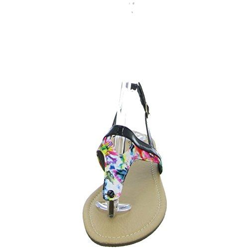 Sheila Cherada B724133 Damen Sandalette bis 30mm Absatz Schwarz (Schwarz)