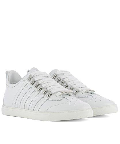 Dsquared2 Herren Snm0008065000011062 Weiss Leder Sneakers